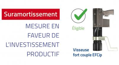 Suramortissement visseuse fort couple EFCip
