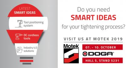 DOGA exhibits at the Motek show 2019