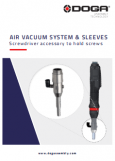 Air vacuum system & sleeves documentation cover