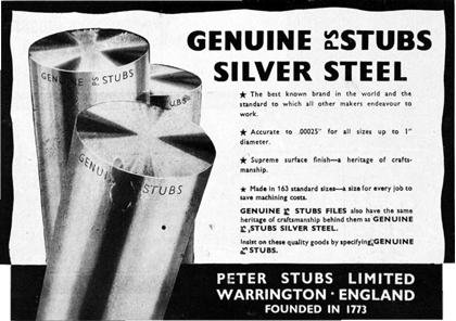 Ge nuine PS STUBS Silver Steel